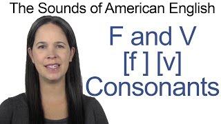 Englisch Klingt - F [f] und V [v] Konsonanten - Wie die F-und V-Konsonanten