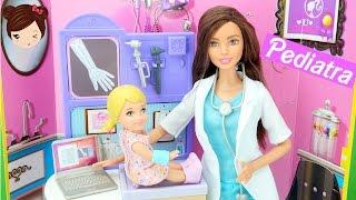 Muñeca Barbie Pediatra - Doctora de bebes y niños  Serie con Muñecas Barbie