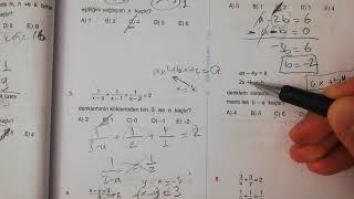Birinci Dereceden Denklemler, Eşitsizlikler Test 2 Esen TYT Matematik Mavi Seri Açıklamalı Çözümleri