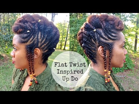 Flat Twist Updo Hairstyles | FusionofCultures Inspired Look | Naturally Michy