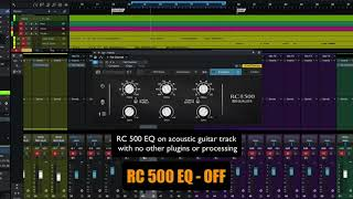 PreSonus Fat Channel Plug-in Demo: RC 500 EQ