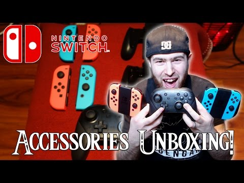 nintendo-switch-accessories-unboxing!---pro-controller,-charging-grip,-&-extra-neon-joy-cons!