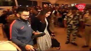 Virat Kohli and Anushka Sharma Leaving from Mumbai Airport for South Africa Tour