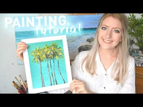 ACRYLIC PAINTING TUTORIAL for Beginners | Katie Jobling Art