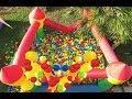 ZIP ZIP HAVUZDA 3000 TOP, Elif ve arkadaşı kaan oynuyor, Eğlenceli çocuk videosu