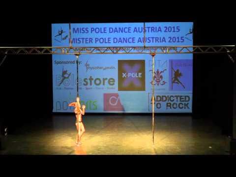 Miss Pole Dance Austria Britt Bloem MPDA 2015 Professional 1st Place