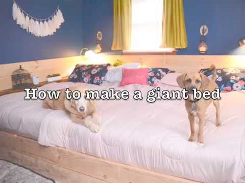 How To Make A Giant Bed   YouTube