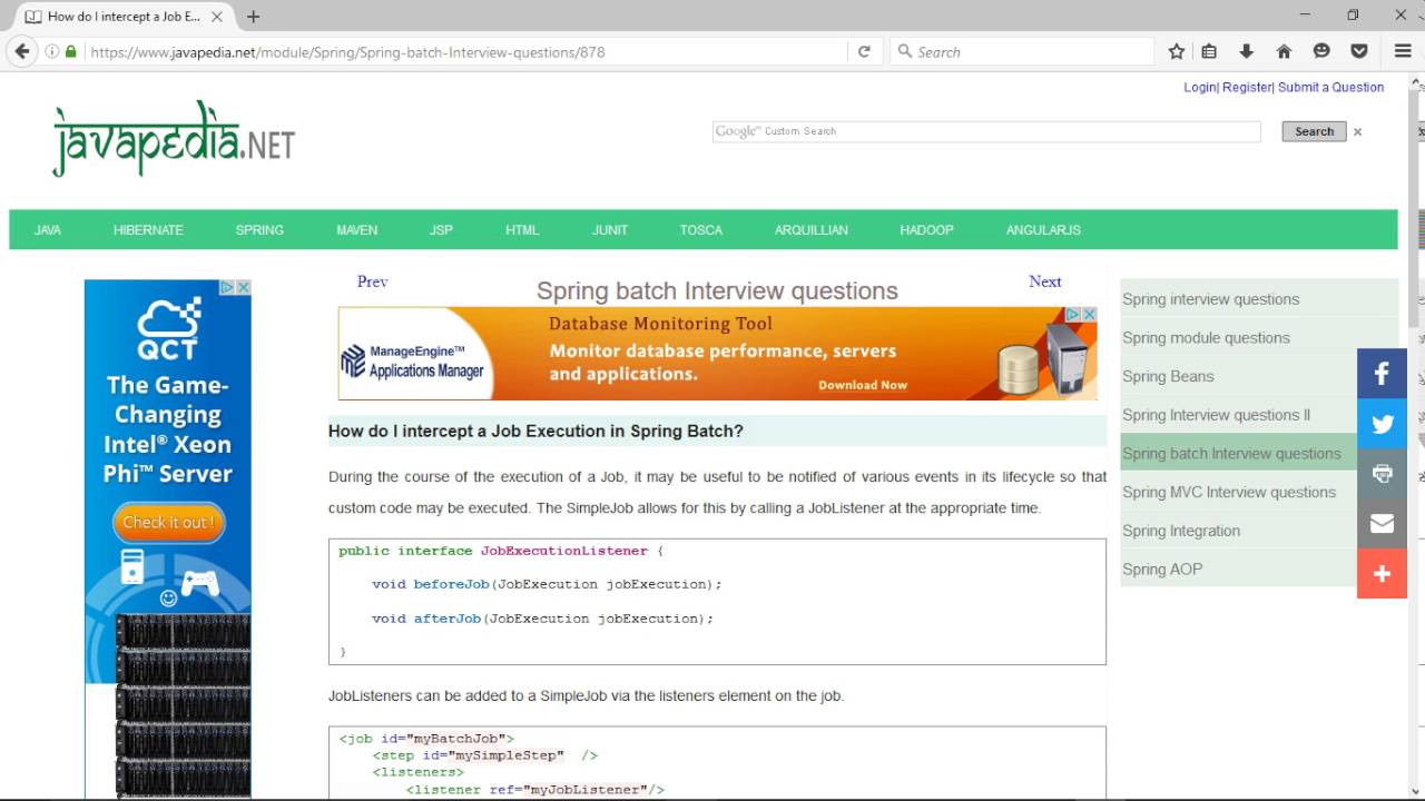 How do I intercept a Job Execution in Spring Batch? | javapedia net