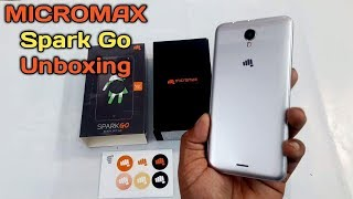 Micromax Spark Go Unboxing and first look features new budget mobile launched