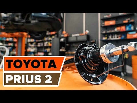 How to replace front shock absorbers TOYOTA PRIUS 2 TUTORIAL | AUTODOC