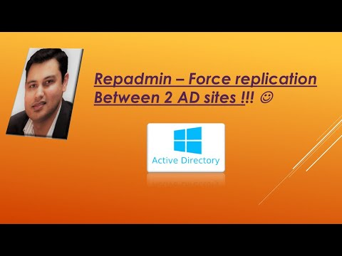 REpadmin ( How to force replicate between 2 AD sites)