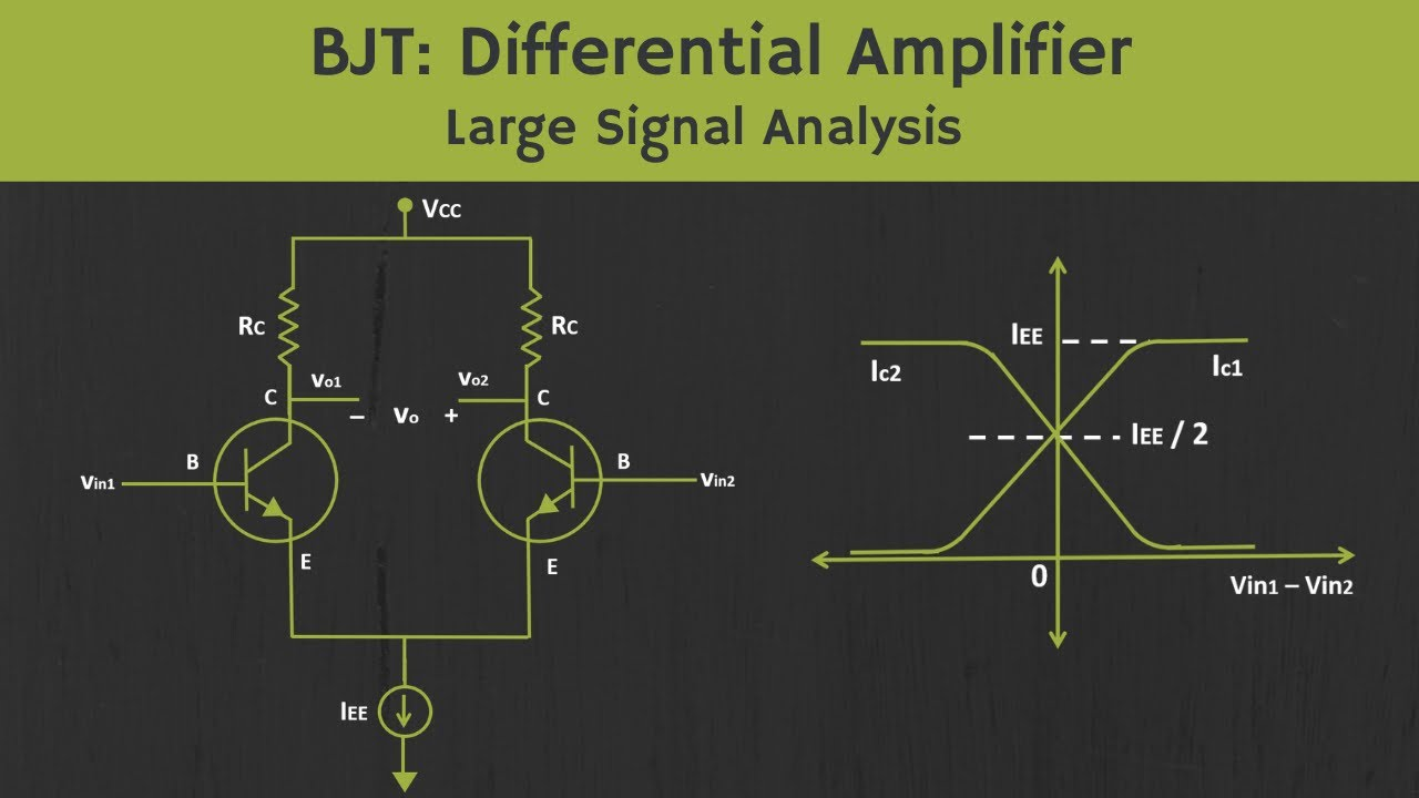 BJT- Differential Amplifier (Large Signal Analysis)