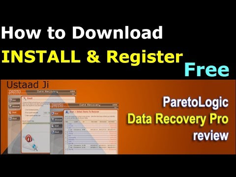 How to Download Install & Register FREE  |ParetoLogic Data Recovery|