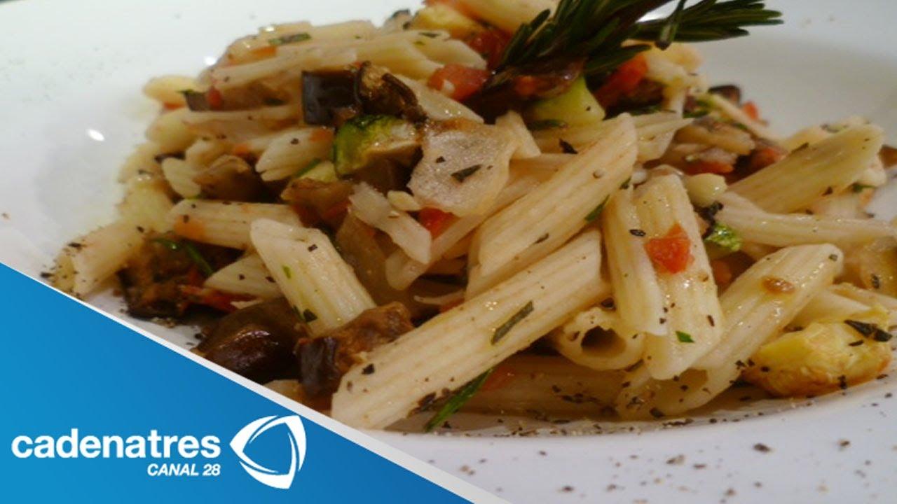 Receta para preparar pasta a la provensal con salsa de for Comida italiana