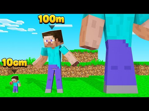 Minecraft BUT WE DON'T STOP GROWING TALLER! (too big)