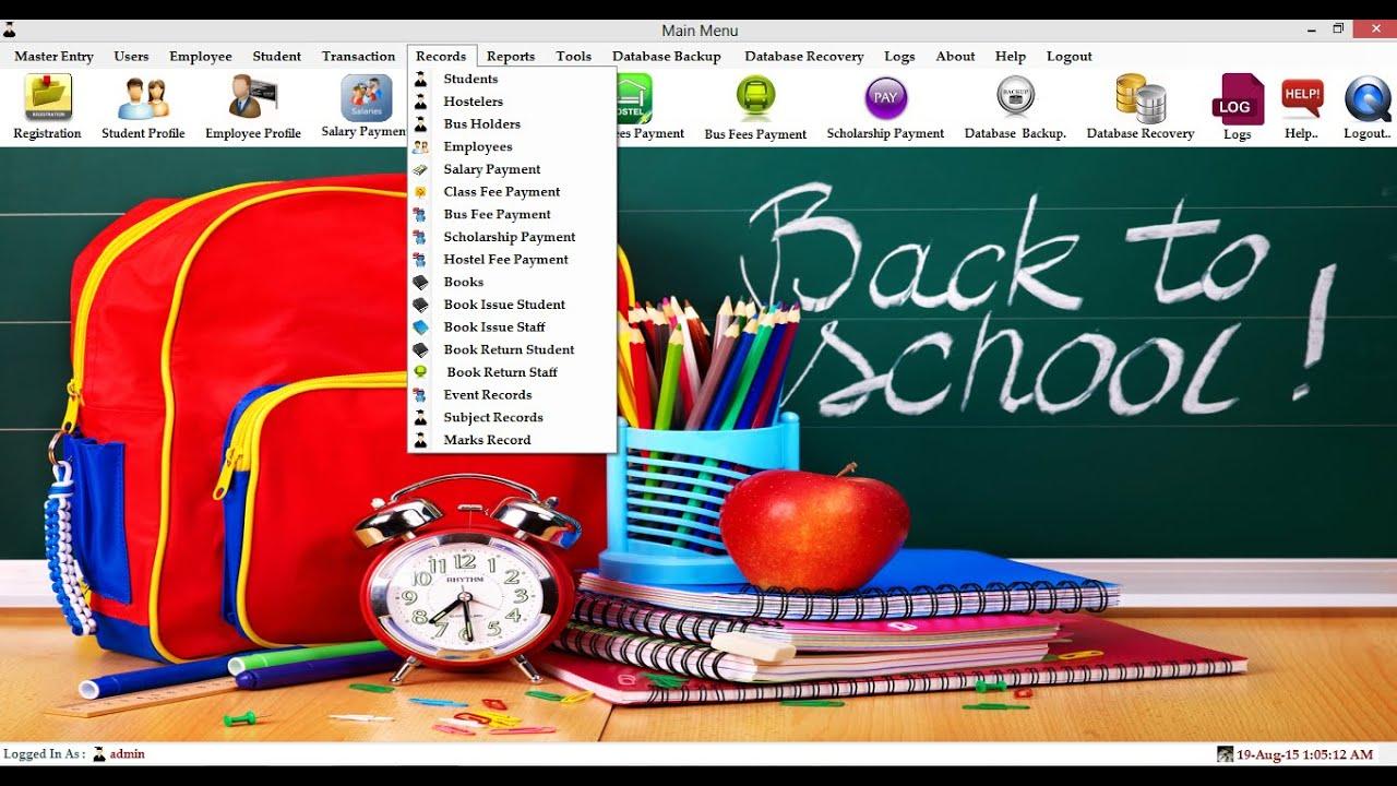 Technology Management Image: School Management Software In C#
