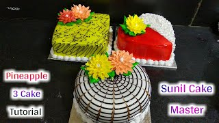 3 Top Amazing Counter Cake Decorating Tutorial | Making By Sunil Cake Master | Fancy Cake