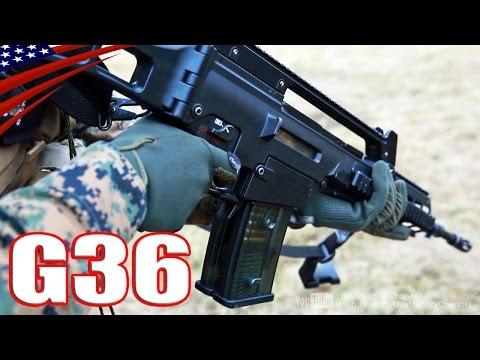 H&K(ヘッケラー&コッホ) G36 & G36KA4 アサルトライフル射撃 - H&K (Heckler & Koch) G36 & G36KA4 Assault Rifle Shoot