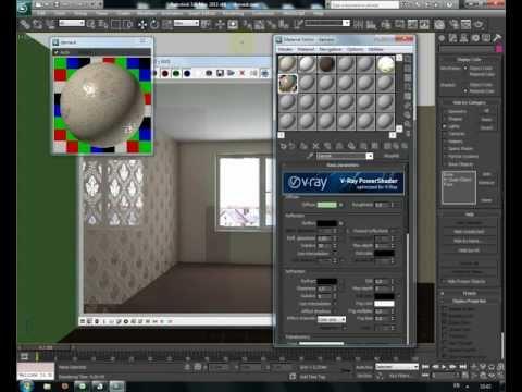 Видеоурок 3d max. Создание узора на стене (дамаска)