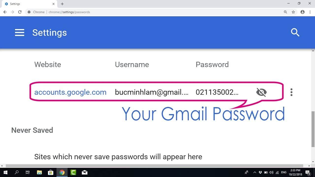 How to find out email passwords