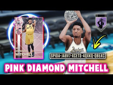 NBA 2K18 FREE PINK DIAMOND 99 OVERALL DONOVAN MITCHELL GAMEPLAY! *LOCKER CODE* | NBA 2K18 MyTEAM
