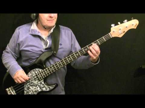 how to play bass guitar to you're the one that I want   grease
