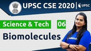 11:00 AM - UPSC CSE 2020 | Science & Tech by Samridhi Ma'am | Biomolecules