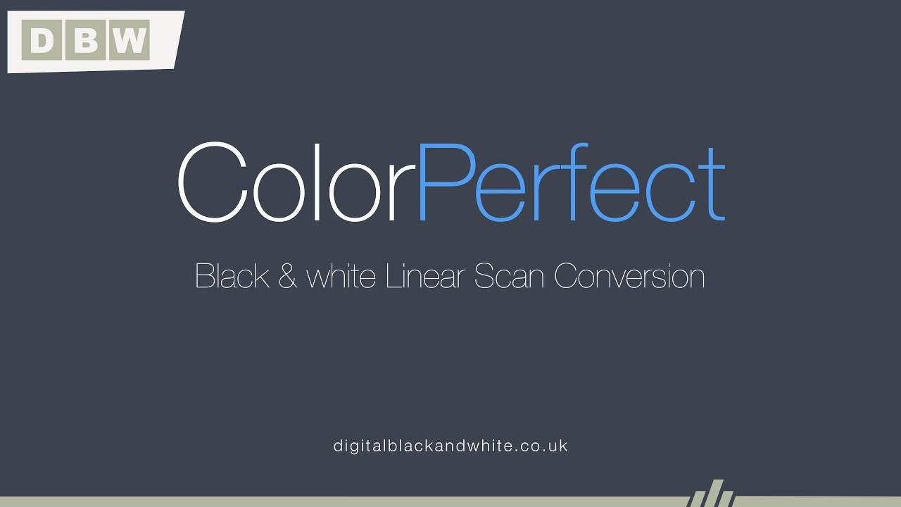 ColorPerfect Black And White Linear Scans Mini Videos 1
