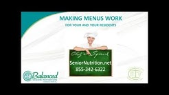 Menus in Assisted Living