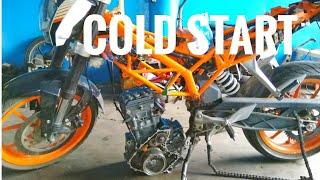 KTM Duke 390 cold start