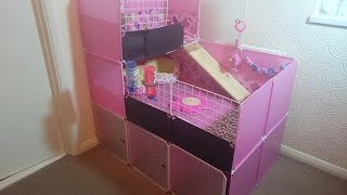 How to build Guinea Pig 2x3 C&C cage with stand and loft PINK DIY