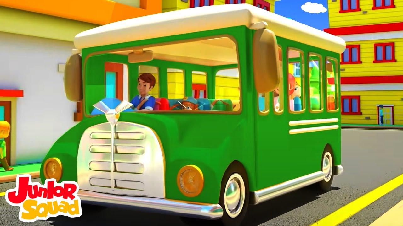 Ruedas en el bus | Canciones infantiles en español | Junior Squad | Dibujos animados