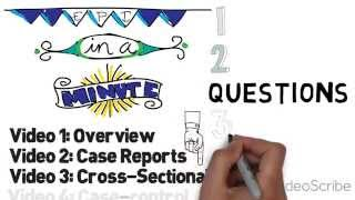 Study Design Part 3 - Cross Sectional Studies
