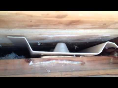 How To Install Rafter Vents From The Outside Youtube