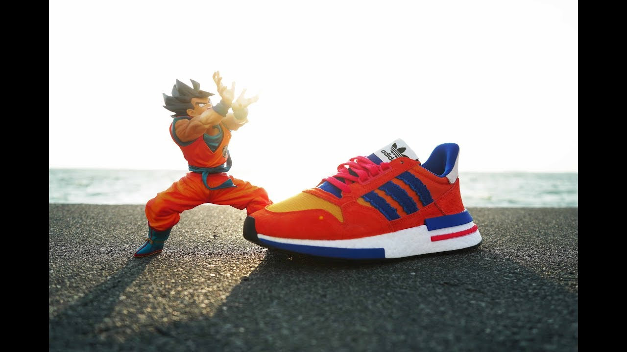7d9b6ad19 ADIDAS GOKU ZX 500 RM REVIEW + EXCLUSIVE FIGURE    - YouTube