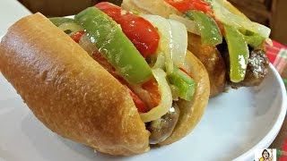 Amys Italian Sausage Sandwich with Peppers & Onions