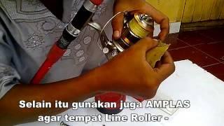 Tutorial membersihkan LINE ROLLER pada Reel Spinning