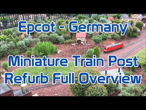 Epcot | Germany Miniature Train | Post Refurb | Full Overview in 4K
