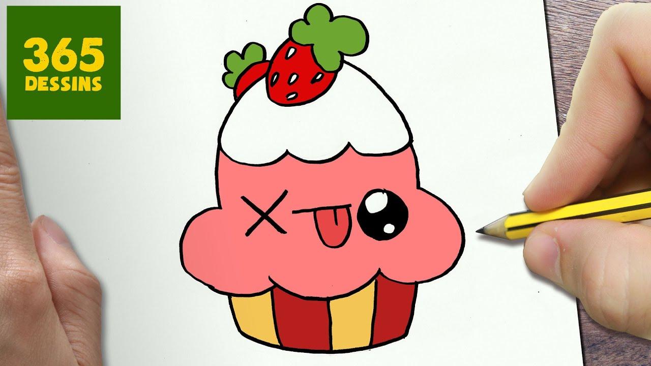 comment dessiner cupcake kawaii tape par tape dessins kawaii facile youtube. Black Bedroom Furniture Sets. Home Design Ideas
