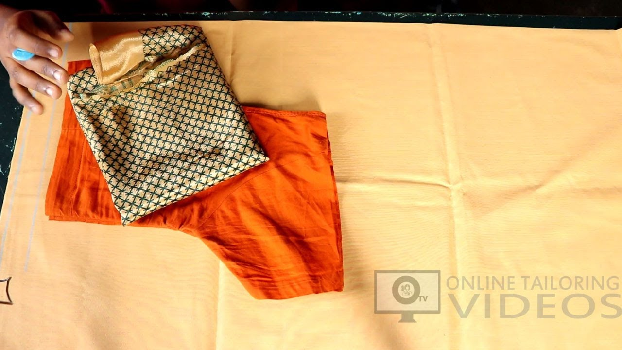 அளவு பிளவுஸ் வைத்து easy cross cut blouse cutting in tamil - very simple method with formula