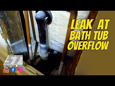 Leak At Bath Tub Overflow You