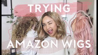 TRYING WIGS I BOUGHT FROM AMAZON?! 😂