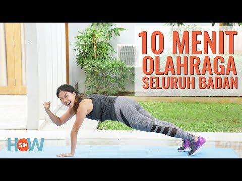 Olahraga 10 Menit BAKAR LEMAK Seluruh Tubuh   Olahraga Di Rumah