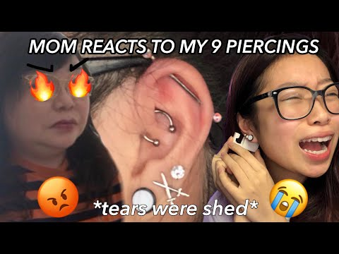 Strict Asian Mom Reacts To My Piercings *GOT EMOTIONAL* / Fruitypoppin