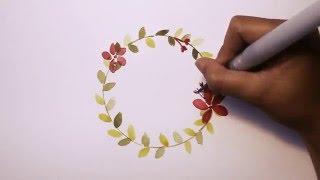 Ide Lukisan Karangan Bunga Cat Air
