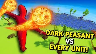 the dark peasant vs every single unit in tabs totally accurate battle simulator funny gameplay