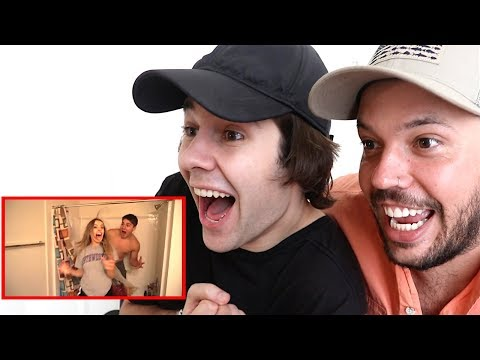 REACTING TO DAVIDS VLOG MOVIE TRAILER!!