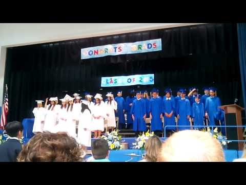 The End of the graduation for the Robert L Craig School