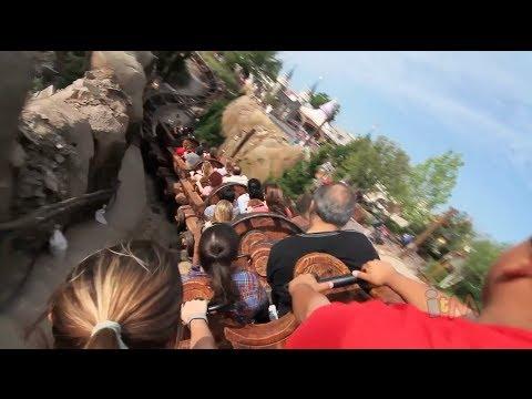 Seven Dwarfs Mine Train smooth POV back row at Walt Disney World