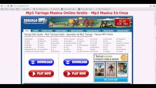 Taringa Mp3  - la mejor web de musica para descargar musica gratis - TARINGA MP3